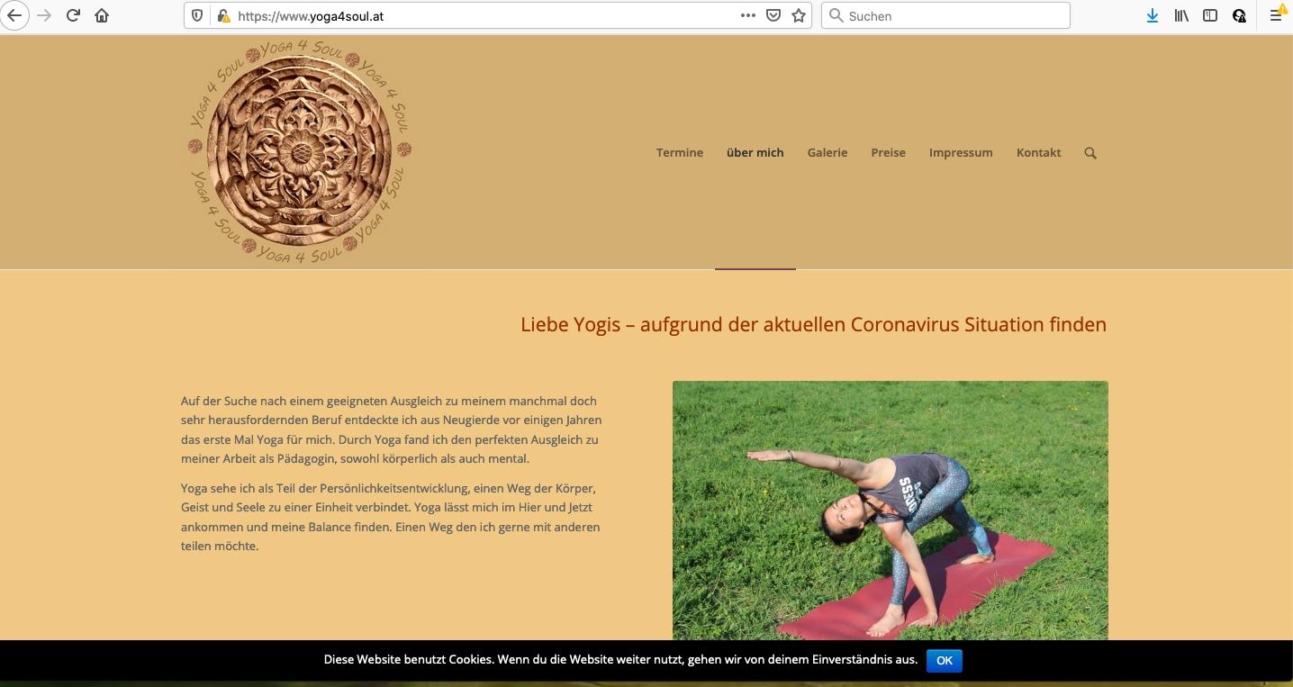 yoga4soul - Web-Design